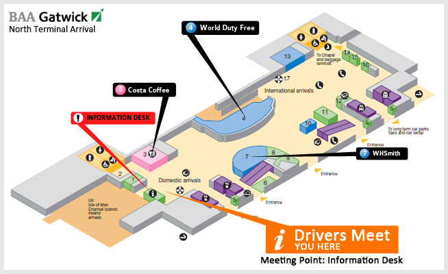 Gatwick Airport Map Shadow Carriage Luxury Taxi Service